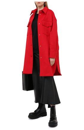 Женское шерстяное пальто STELLA MCCARTNEY красного цвета, арт. 601217/SPB11   Фото 2