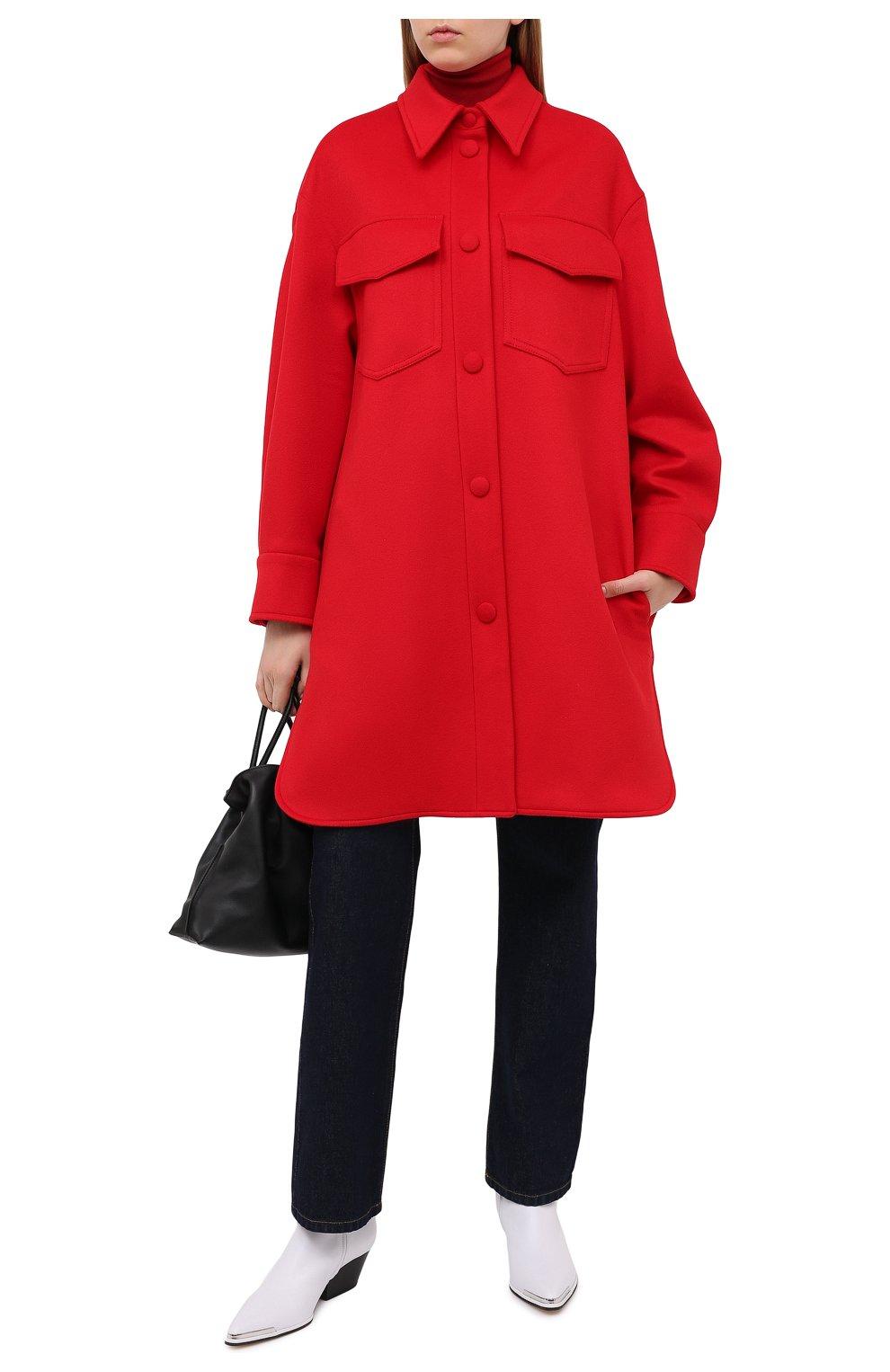 Женское шерстяное пальто STELLA MCCARTNEY красного цвета, арт. 601217/SPB11   Фото 3