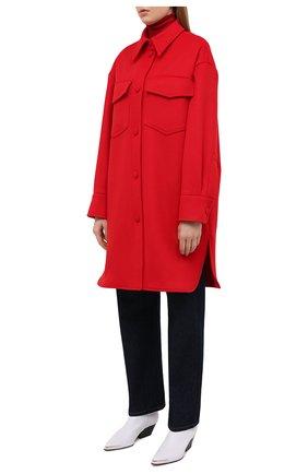 Женское шерстяное пальто STELLA MCCARTNEY красного цвета, арт. 601217/SPB11   Фото 4