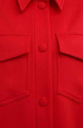Женское шерстяное пальто STELLA MCCARTNEY красного цвета, арт. 601217/SPB11   Фото 6