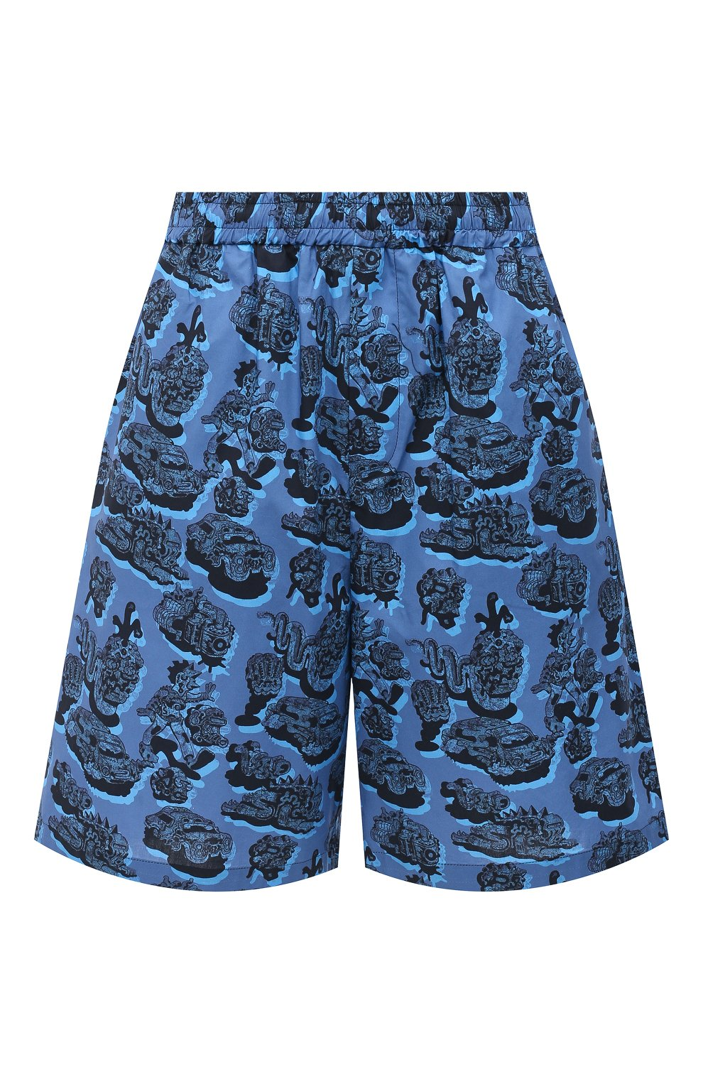 Женские хлопковые шорты STELLA MCCARTNEY синего цвета, арт. 600473/SPN12 | Фото 1 (Женское Кросс-КТ: Шорты-одежда; Кросс-КТ: Широкие; Материал внешний: Хлопок; Длина Ж (юбки, платья, шорты): До колена; Стили: Кэжуэл)