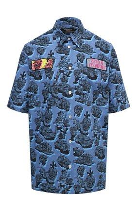Женская хлопковая рубашка STELLA MCCARTNEY синего цвета, арт. 601944/SPN12 | Фото 1