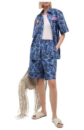 Женская хлопковая рубашка STELLA MCCARTNEY синего цвета, арт. 601944/SPN12 | Фото 2
