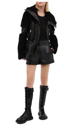 Женская дубленка RICK OWENS черного цвета, арт. RP20F2765/LC0M1 | Фото 2