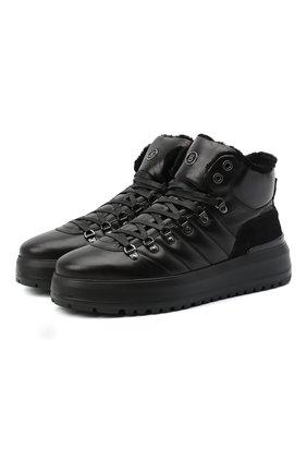 Мужские кожаные ботинки BOGNER черного цвета, арт. 103-4523/ANTWERP M 4A | Фото 1