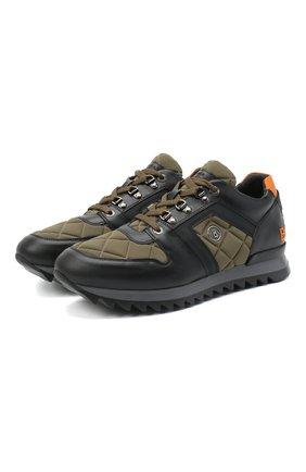 Мужские комбинированные кроссовки BOGNER хаки цвета, арт. 103-B861/SEATTLE 5 | Фото 1