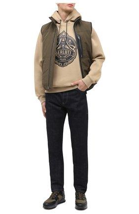Мужские комбинированные кроссовки BOGNER хаки цвета, арт. 103-B861/SEATTLE 5 | Фото 2