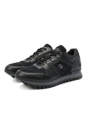 Мужские комбинированные кроссовки BOGNER черного цвета, арт. 103-B861/SEATTLE 5 | Фото 1