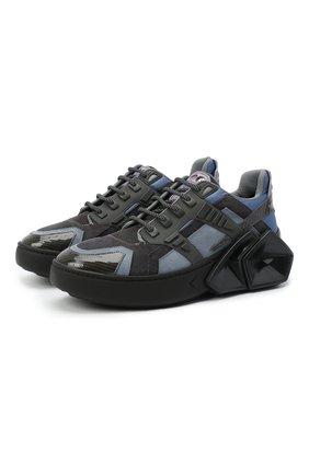 Мужские комбинированные кроссовки silverstone HIDE&JACK синего цвета, арт. 5AZRBLKGRY | Фото 1