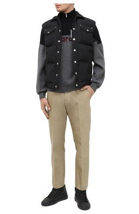 Мужские кожаные кеды HIDE&JACK черного цвета, арт. IBKHBLKBLK-MTB | Фото 2