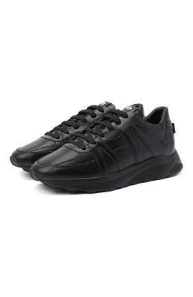Мужские кожаные кроссовки HIDE&JACK черного цвета, арт. JETLBLKBLK | Фото 1