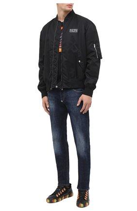 Мужские кожаные кеды HIDE&JACK черного цвета, арт. T0SGBLKFY0-MTB | Фото 2