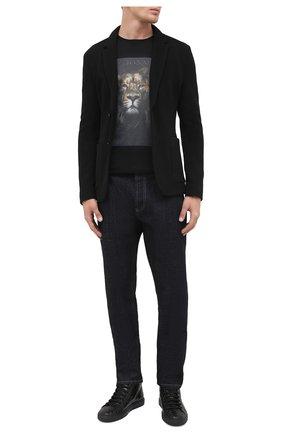 Мужские кожаные кеды HIDE&JACK черного цвета, арт. TSCHBLKBLK | Фото 2