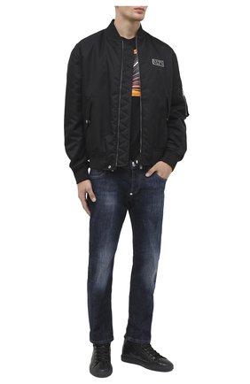 Мужские кожаные кеды HIDE&JACK черного цвета, арт. TSCHBLKBLK-MTB | Фото 2
