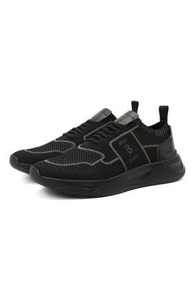 Мужские текстильные кроссовки BERLUTI черного цвета, арт. S4918-006 | Фото 1