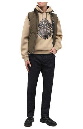 Мужские текстильные кроссовки BERLUTI черного цвета, арт. S4918-006 | Фото 2