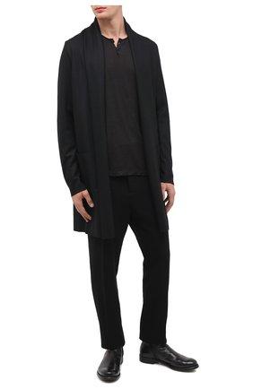 Мужские кожаные сапоги OFFICINE CREATIVE черного цвета, арт. HIVE/038/IGNIS | Фото 2