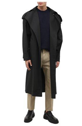 Мужской кожаные дерби SERGIO ROSSI черного цвета, арт. A91400-MMVG04   Фото 2