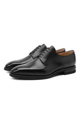 Мужские кожаные дерби BALLY черного цвета, арт. SCRIVANI/600 | Фото 1 (Материал внутренний: Натуральная кожа; Стили: Классический)