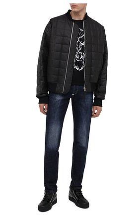 Мужские кожаные кеды kriss GIUSEPPE ZANOTTI DESIGN черного цвета, арт. RU00011/009 | Фото 2