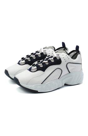 Мужские кожаные кроссовки rockaway ACNE STUDIOS белого цвета, арт. BD0119 | Фото 1