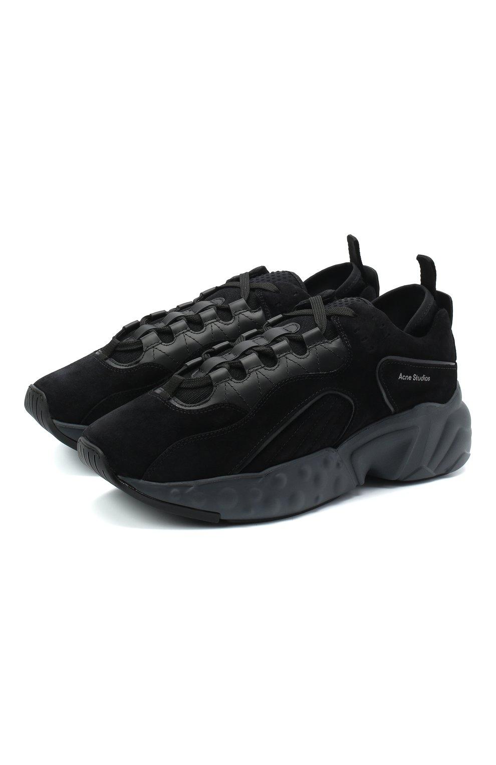 Мужские замшевые кроссовки rockaway ACNE STUDIOS черного цвета, арт. BD0136   Фото 1