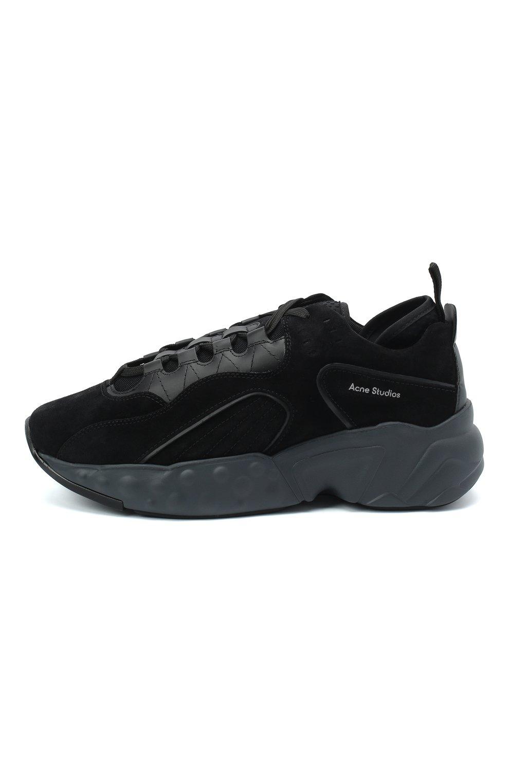 Мужские замшевые кроссовки rockaway ACNE STUDIOS черного цвета, арт. BD0136   Фото 3