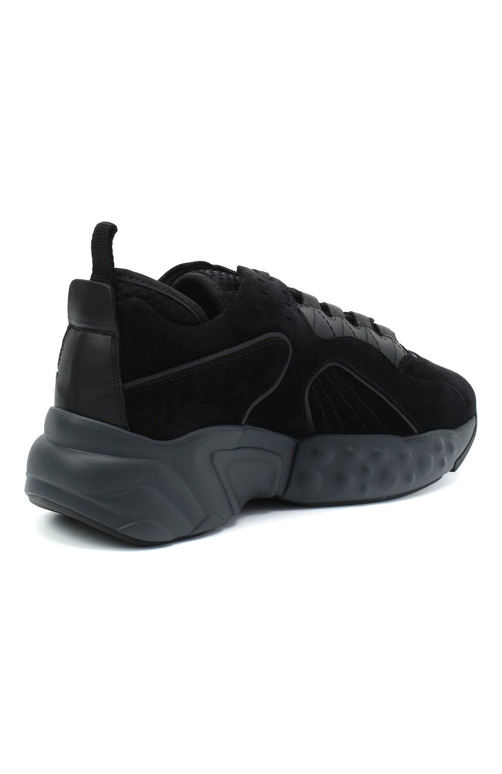 Мужские замшевые кроссовки rockaway ACNE STUDIOS черного цвета, арт. BD0136   Фото 4