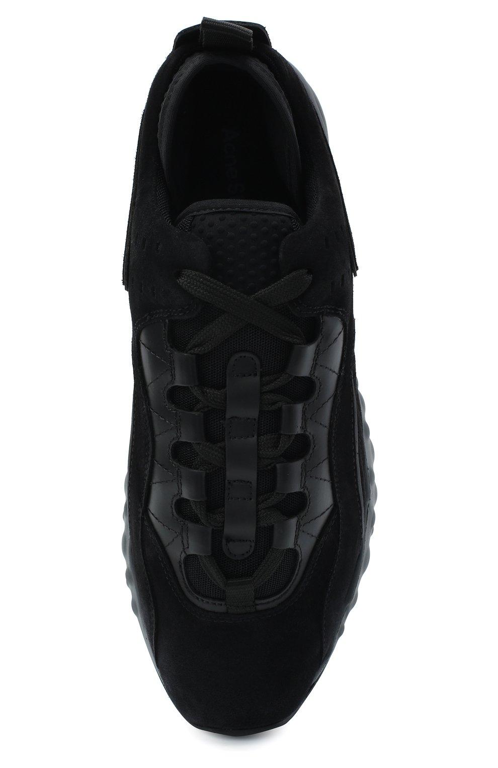 Мужские замшевые кроссовки rockaway ACNE STUDIOS черного цвета, арт. BD0136   Фото 5