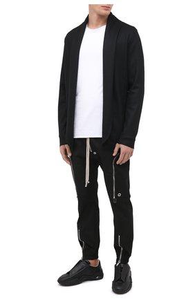 Мужская шерстяной кардиган KAZUYUKI KUMAGAI черного цвета, арт. AJ03-227 | Фото 2