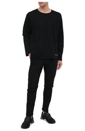 Мужской шерстяной джемпер KAZUYUKI KUMAGAI черного цвета, арт. AJ03-239 | Фото 2
