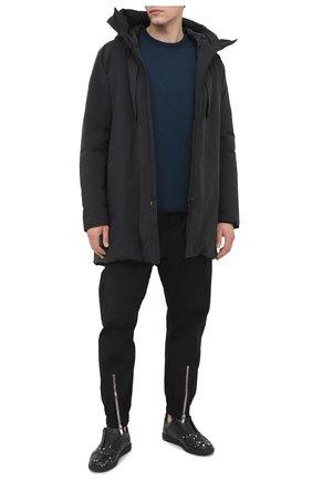Мужской шерстяной джемпер KAZUYUKI KUMAGAI темно-синего цвета, арт. AK03-241 | Фото 2
