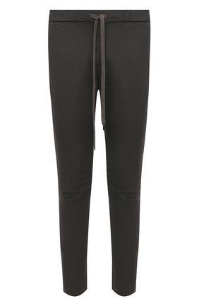 Мужской хлопковые брюки KAZUYUKI KUMAGAI серого цвета, арт. AP03-208 | Фото 1