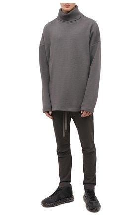 Мужской хлопковые брюки KAZUYUKI KUMAGAI серого цвета, арт. AP03-208 | Фото 2
