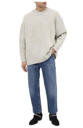 Мужской шерстяной свитер KAZUYUKI KUMAGAI бежевого цвета, арт. KK03-025   Фото 2