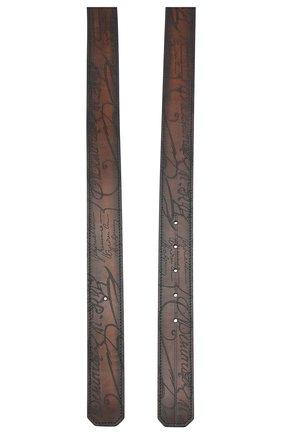Мужской кожаный ремень BERLUTI коричневого цвета, арт. CS004-001 | Фото 2