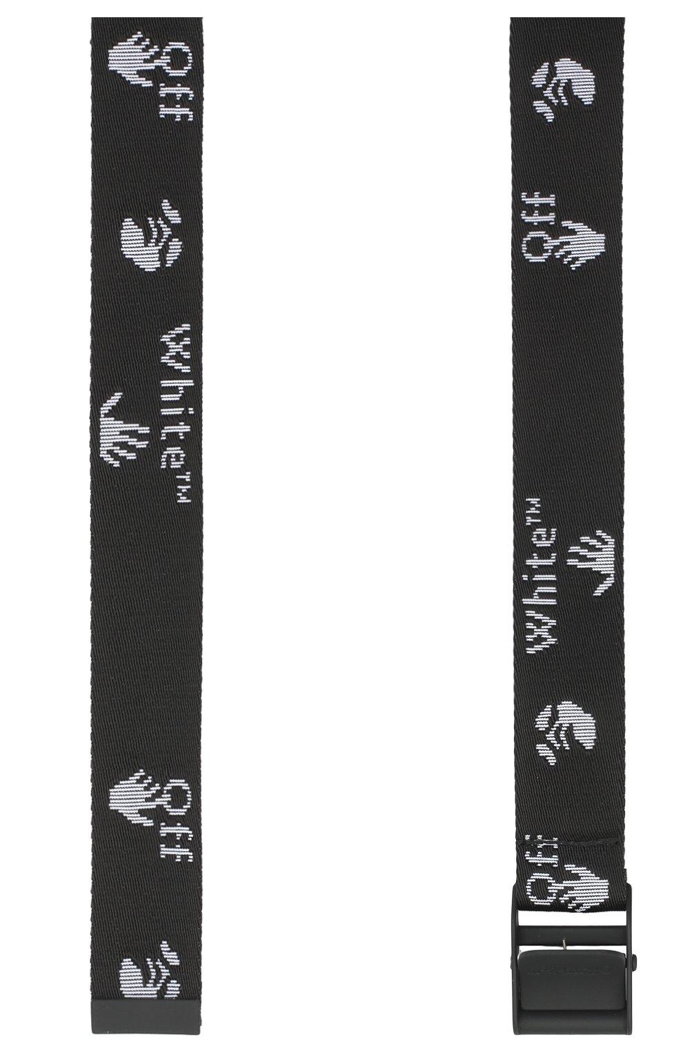 Мужской текстильный ремень OFF-WHITE черного цвета, арт. 0MRB045E20LEA0011010   Фото 2 (Материал: Текстиль, Синтетический материал; Случай: Повседневный)