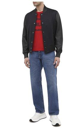 Мужская хлопковая футболка BERLUTI красного цвета, арт. R18JRS50-002 | Фото 2