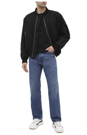 Мужская хлопковая футболка BERLUTI черного цвета, арт. R18JRS50-004 | Фото 2