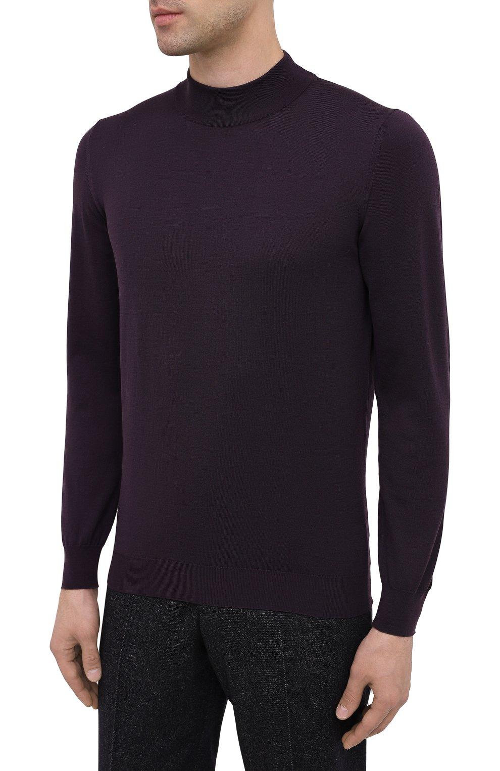 Мужской шерстяная водолазка SVEVO фиолетового цвета, арт. 1314/3SA20/MP13 | Фото 3