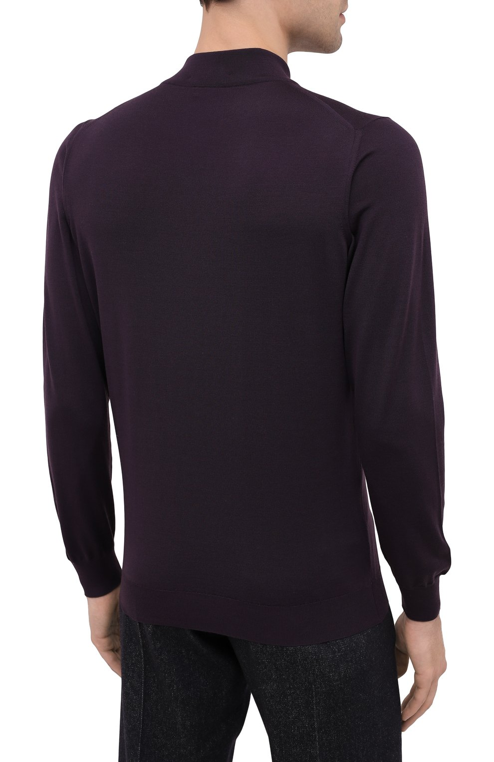 Мужской шерстяная водолазка SVEVO фиолетового цвета, арт. 1314/3SA20/MP13 | Фото 4