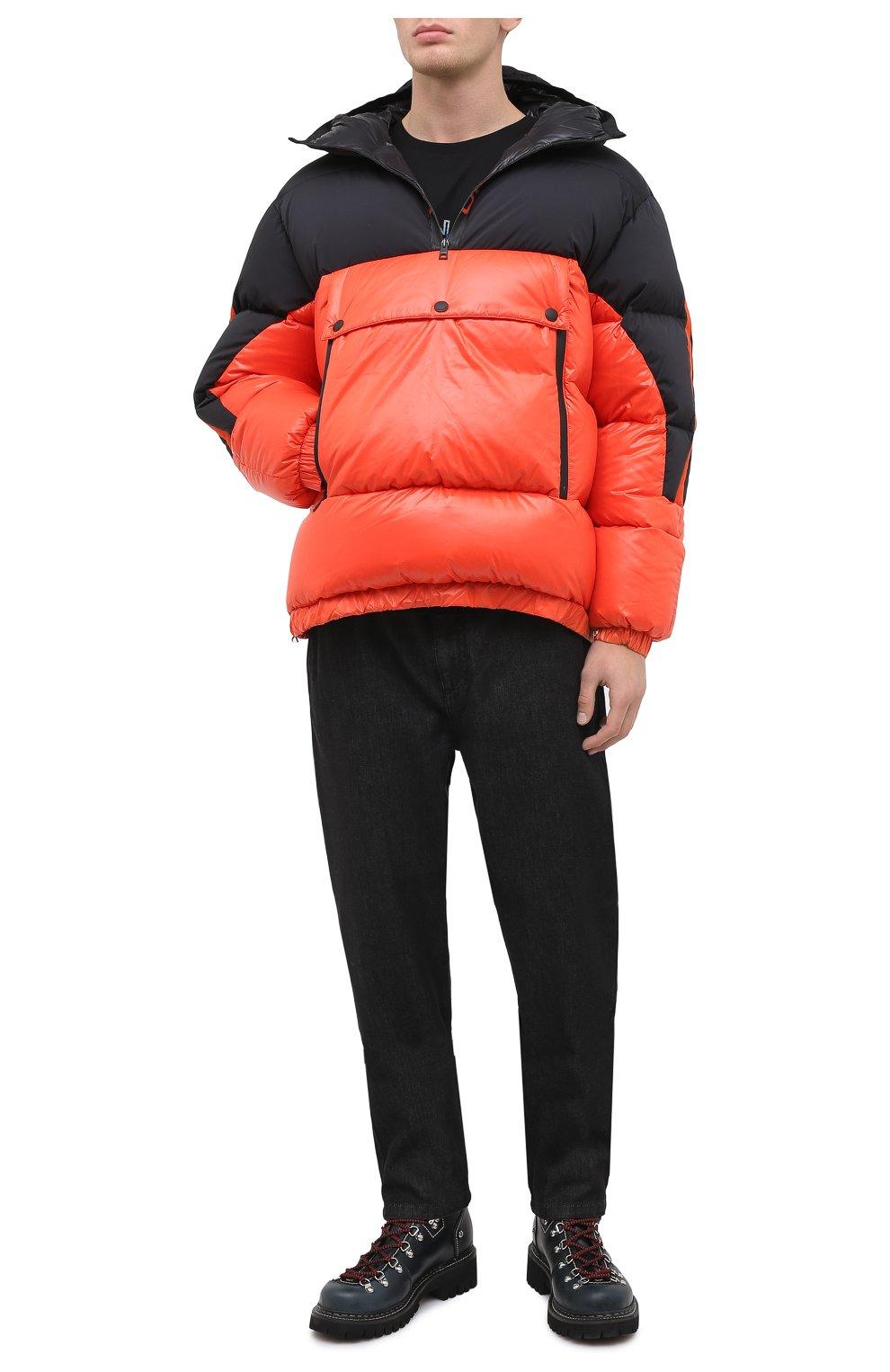 Мужская пуховая куртка UPTOBE красного цвета, арт. UPW0/BALTIM0RA   Фото 2 (Кросс-КТ: Куртка, Пуховик; Мужское Кросс-КТ: пуховик-короткий, Пуховик-верхняя одежда, Верхняя одежда; Рукава: Длинные; Материал внешний: Синтетический материал; Стили: Гранж; Материал подклада: Синтетический материал; Длина (верхняя одежда): Короткие; Материал утеплителя: Пух и перо)