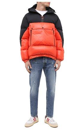 Мужская пуховая куртка UPTOBE красного цвета, арт. UPW0/BALTIM0RA   Фото 3 (Кросс-КТ: Куртка, Пуховик; Мужское Кросс-КТ: пуховик-короткий, Пуховик-верхняя одежда, Верхняя одежда; Рукава: Длинные; Материал внешний: Синтетический материал; Стили: Гранж; Материал подклада: Синтетический материал; Длина (верхняя одежда): Короткие; Материал утеплителя: Пух и перо)