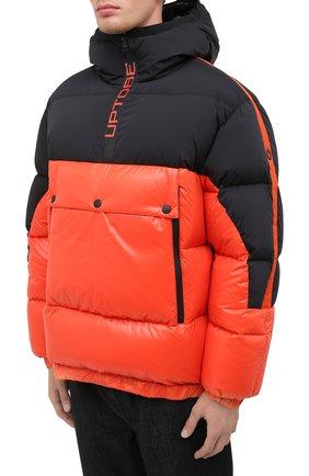 Мужская пуховая куртка UPTOBE красного цвета, арт. UPW0/BALTIM0RA   Фото 4 (Кросс-КТ: Куртка, Пуховик; Мужское Кросс-КТ: пуховик-короткий, Пуховик-верхняя одежда, Верхняя одежда; Рукава: Длинные; Материал внешний: Синтетический материал; Стили: Гранж; Материал подклада: Синтетический материал; Длина (верхняя одежда): Короткие; Материал утеплителя: Пух и перо)