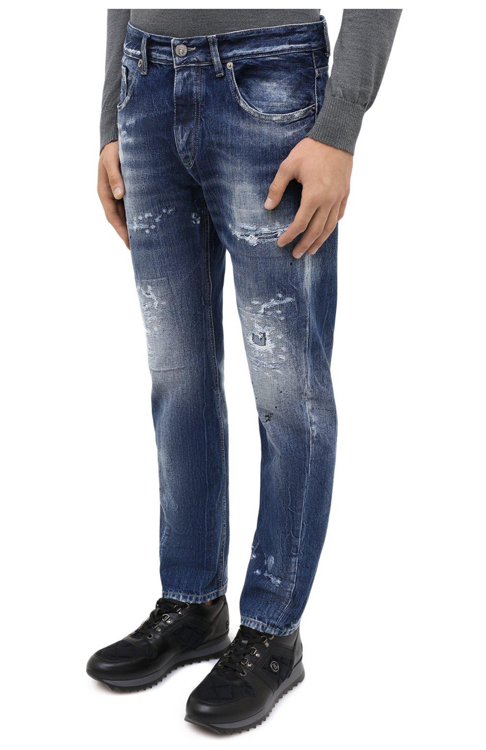 Мужские джинсы PREMIUM MOOD DENIM SUPERIOR синего цвета, арт. F21 352740221/BARRET   Фото 3