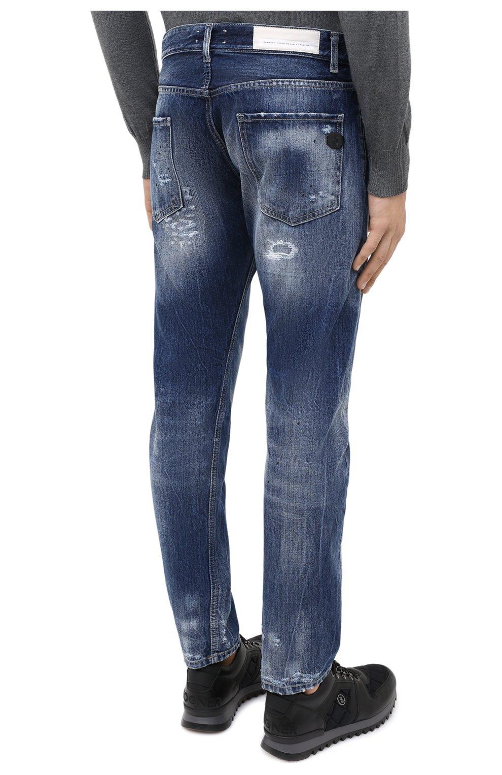 Мужские джинсы PREMIUM MOOD DENIM SUPERIOR синего цвета, арт. F21 352740221/BARRET   Фото 4