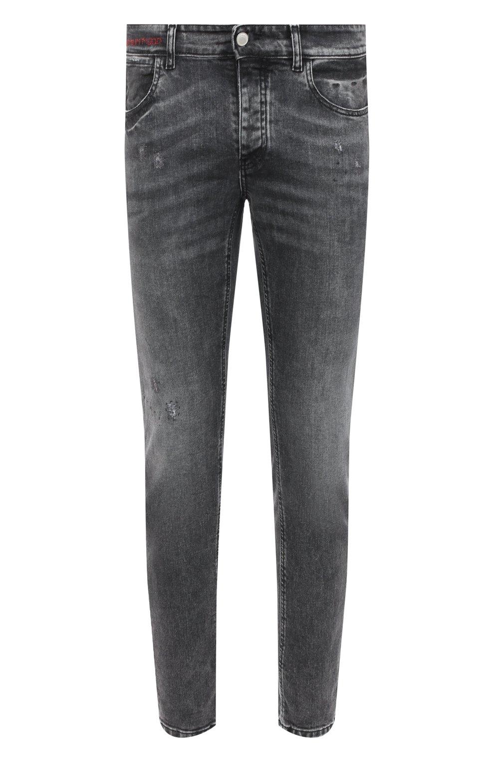 Мужские джинсы PREMIUM MOOD DENIM SUPERIOR серого цвета, арт. F21 0417234651/R0BERT   Фото 1