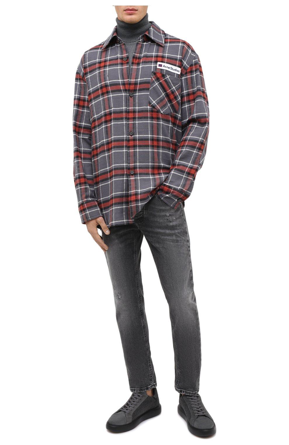 Мужские джинсы PREMIUM MOOD DENIM SUPERIOR серого цвета, арт. F21 0417234651/R0BERT   Фото 2