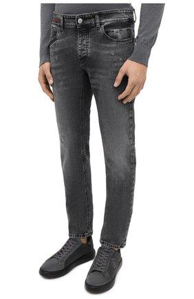 Мужские джинсы PREMIUM MOOD DENIM SUPERIOR серого цвета, арт. F21 0417234651/R0BERT   Фото 3
