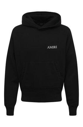 Мужской хлопковое худи AMIRI черного цвета, арт. F0M02216TE | Фото 1